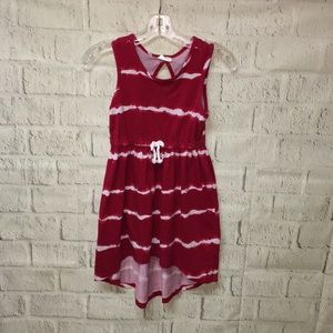 Crazy 8  red with white stripes sun dress